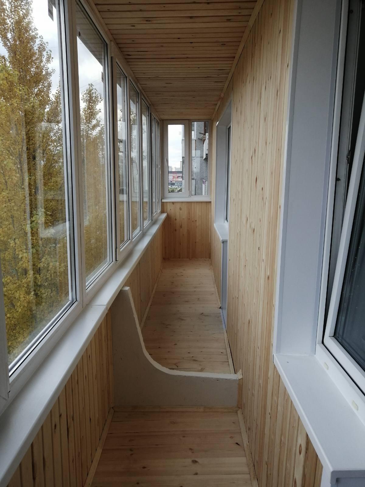 отделка балконов омск